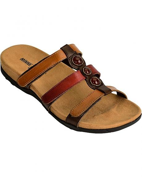 Minnetonka Wilshire Three-Strap Sandals