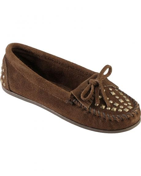 Women's Minnetonka Double Studded Moccasins