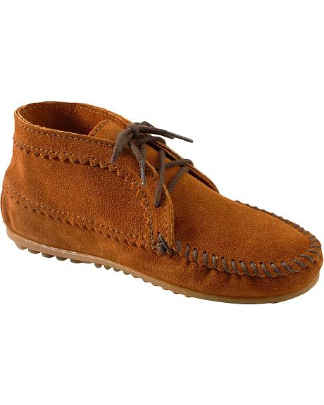 Women's Minnetonka Suede Ankle Moccasin Boots