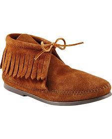 Women's Minnetonka Classic Fringe Moccasin Boots