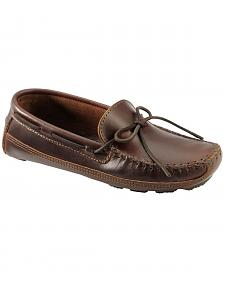 Men's Minnetonka Double Bottom Cowhide Driving Moccasins