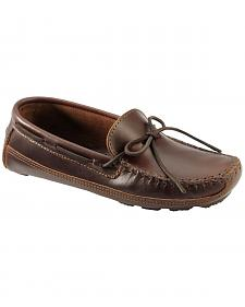 Men's Minnetonka Double Bottom Cowhide Driving Moccasins - XL