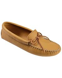 Mens Minnetonka Double Deerskin Softsole Moccasins at Sheplers
