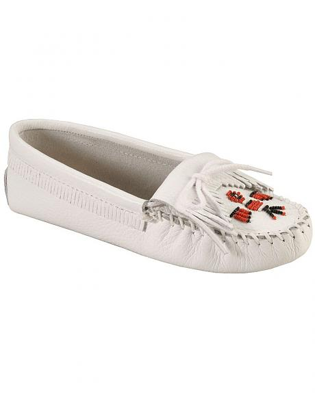 Minnetonka Beaded Thunderbird Moccasins
