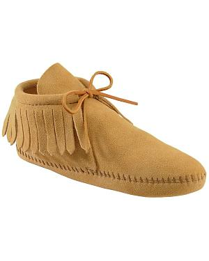 Minnetonka Fringed Soft Sole Moccasins
