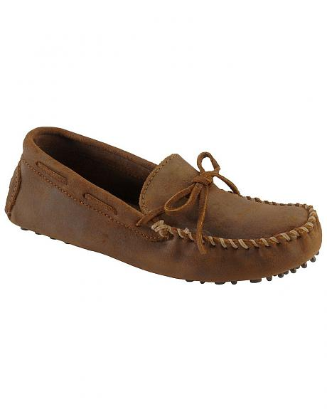 Minnetonka Cowhide Driving Moccasins