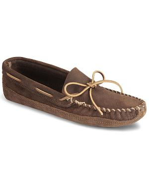 Minnetonka Distressed Leather Moccasins
