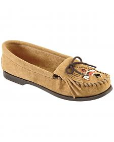 Minnetonka Suede Thunderbird Moccasins - Boat Sole
