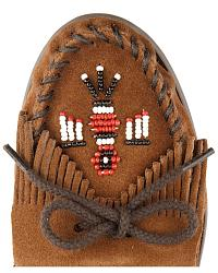 Minnetonka Suede Thunderbird Moccasins - Boat Sole at Sheplers