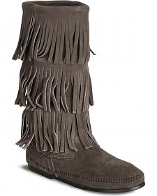 Minnetonka Tall Fringed Boots