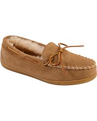 Minnetonka Sheepskin Moccasins at Sheplers