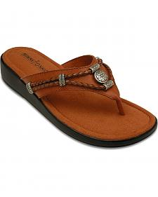 Minnetonka Silverthorne Wedge Sandals