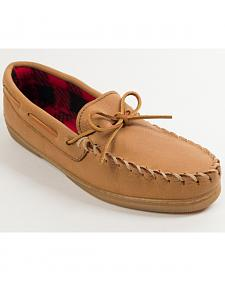 Minnetonka Genuine Moose with Fleece Lining Moccasins