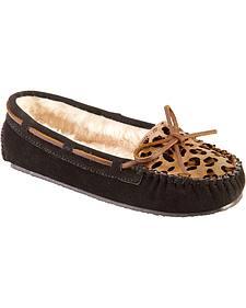 Women's Minnetonka Leopard Cally Moccasins