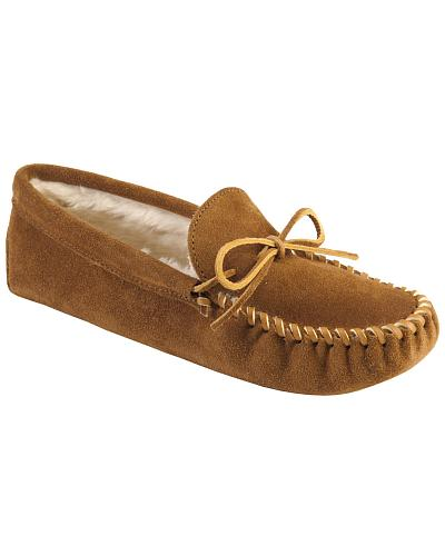 Mens Minnetonka Traditional Pile Line Softsole Moccasins Western & Country 763
