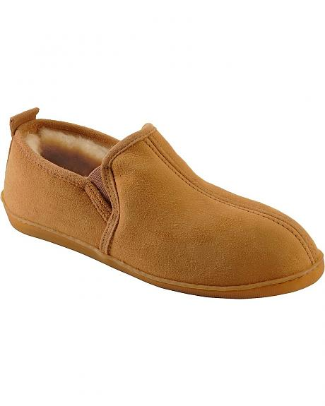 Men's Minnetonka Gore Sheepskin Slippers - Wide