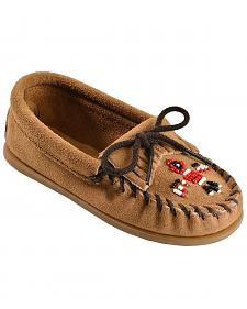 Kids' Minnetonka Thunderbird II Beaded Moccasins