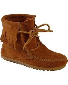 Minnetonka Girls' Ankle Tramper Moccasin Boots