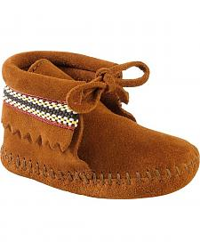 Minnetonka Infant Boys' Braided Bootie Moccasins