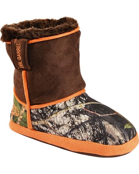 Double Barrel Boys' Camouflage Slipper Booties