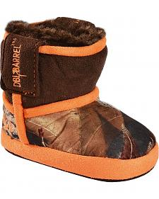 Double Barrel Infant Boys' Camouflage Slipper Booties