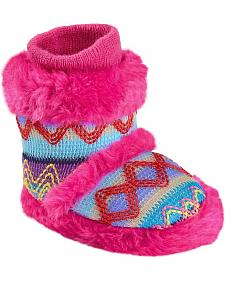 Blazin Roxx Infant Girls' Colorful Woven Slipper Booties