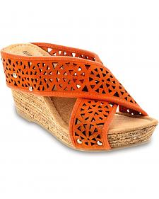 Minnetonka Lainey Orange Strap Sandals