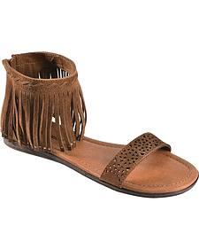 Minnetonka Malibu Tan Fringe Sandals