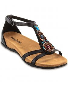 Minnetonka Bayshore Beaded Cross Sandals