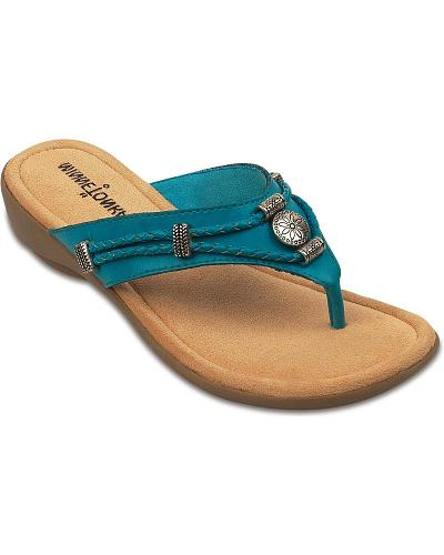 Minnetonka Silverthorne Turquoise Wedge Sandals Western & Country 70000TRQ