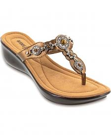 Minnetonka Boca Bronze Thong Sandals