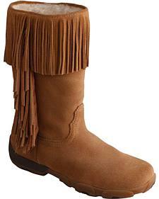 Twisted X Women's Moc Fringe Boots - Round Toe