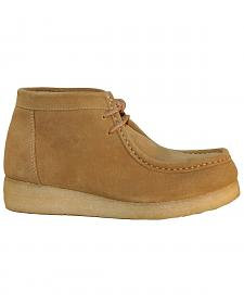 Roper Women's Tan Suede Chukka Gum Lace-Up Casual Shoes - Round Toe