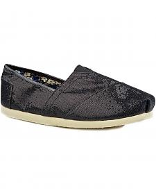 Roper Metallic Sequin Slip On Shoes