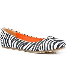 Roper Zebra/Leopard Print Ballerina Flats