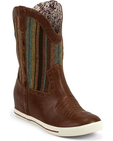 Justin Gypsy Dust Striped Cowgirl Boots - Round Toe