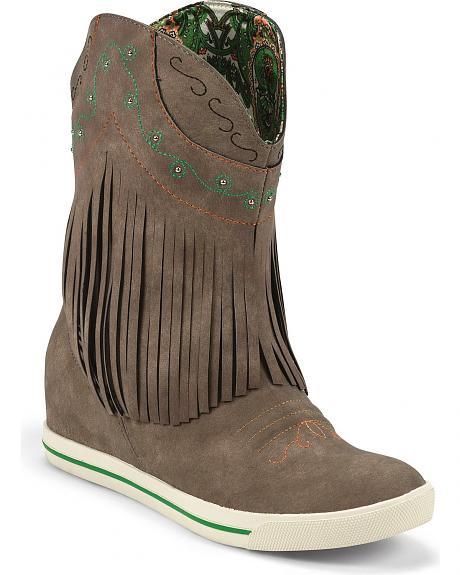 Justin Gypsy Dust Fringe Cowgirl Boots - Round Toe