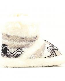 Blazin Roxx Infant Girls' Black & White Woven Slippers