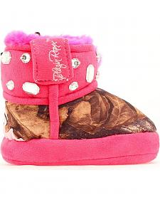 Blazin Roxx Infant Girls' Bejeweled Mossy Oak Camo Slippers