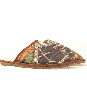 Double Barrel Camouflage Print Slippers