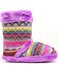 Blazin Roxx Women's Muli Color Woven Slipper Booties