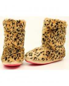 Blazin Roxx Youth Girls' Furry Boot Slippers