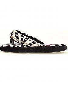 Blazin Roxx Youth Girls' Zebra Flip Flop Slippers