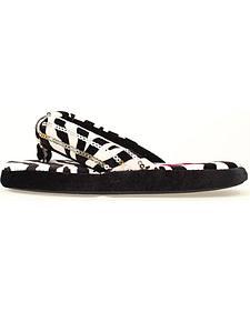 Blazin Roxx Youth Girls' Zebra Flip Flop Slippers