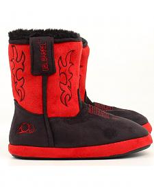 Double Barrel Youth Boys' Cowboy Boot Slipper Booties