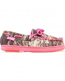 Blazin Roxx Youth Girls' Hot Pink & Camo Moccasins