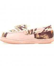 Blazin Roxx Youth Girls' Light Pink & Camo Moccasins