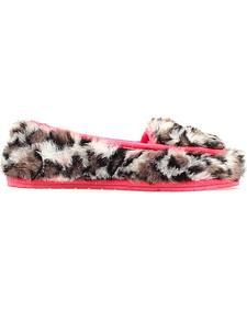 Blazin Roxx Faux Fur Leopard Print Slippers