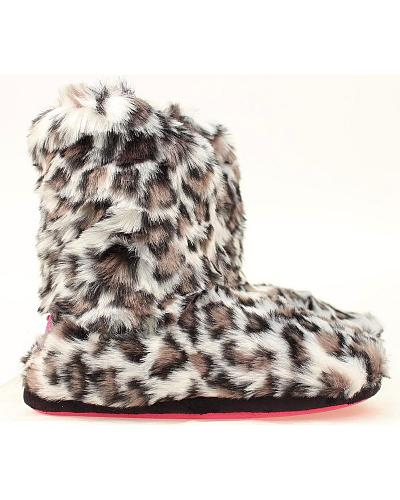 Blazin Roxx Faux Fur Leopard Print Slipper Booties Western & Country 5715606