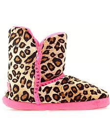 Blazin Roxx Leopard Print Sequin Slippers